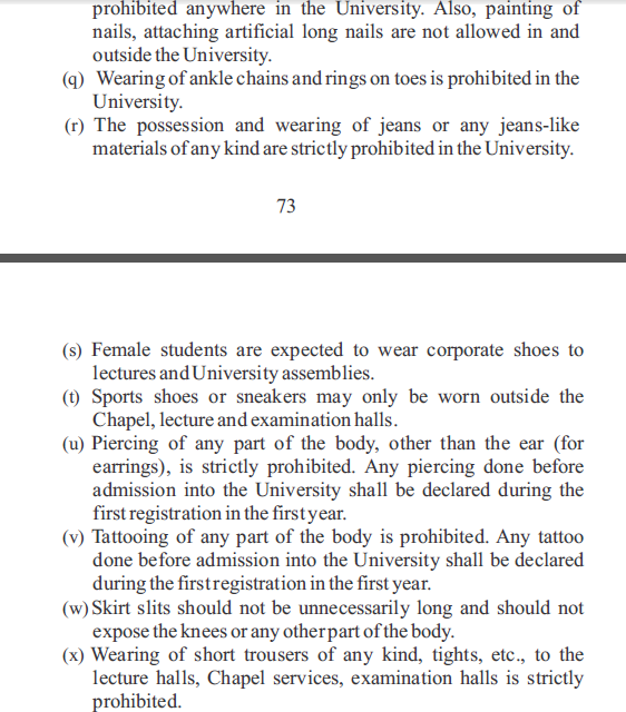 5 Check out the New Dress Code for Covenant Universitys Students